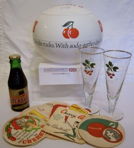 Cherry B Ice Bucket & Spiral Stemmed Tall Glasses Set - 1960s - SOLD